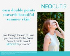 It's the perfect time to stock up! All June you get 2x points with #NEOCUTIS purchases in our office! Swiss Reward points earn you FREE product through the app, so stop by our Practice today! #skincare #skincareproducts #skincareroutine #ccsd #luxuryskincare