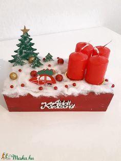 Adventi box (tacihobby) - Meska.hu Advent Candles, Xmas Decorations, Christmas Ornaments, Holiday Decor, Box, Home Decor, Snare Drum, Decoration Home, Room Decor
