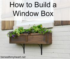 How to build a window box and increase your home's curb appeal. This is a great tutorial via @hometalk.