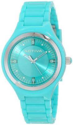 Activa By Invicta Women's AA201-006 Aqua Dial Aqua Plastic Watch Activa By Invicta. $39.60. Water-resistant to 50 M (165 feet). Aqua dial with white hands and hour markers; silver tone plastic bezel; silver tone crown with aqua cabochon. Swiss quartz movement. Mineral crystal; aqua plastic case and bracelet. White second hand