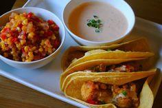 Cornmeal fish tacos