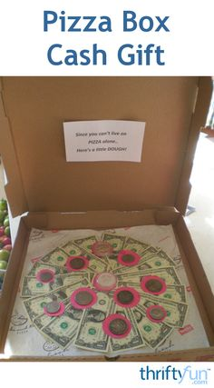 This is a guide about making a pizza box cash gift. Coming up with cute ways to give cash makes the gift giving and receiving more fun.