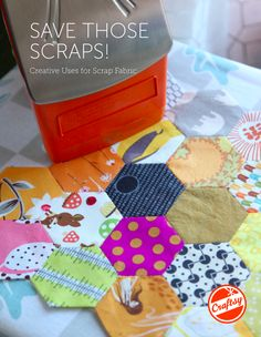 """Introducing """"Save Those Scraps: Creative Uses for Scrap Fabric,"""" a FREE downloadable scrap quilting handbook. Get it today on Craftsy.com."""