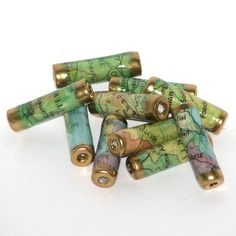 Paper beads - Recycled Map selection £5.50