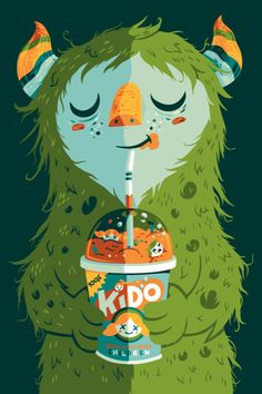 MMM Kido | Monster Illustration by Greg Abbott