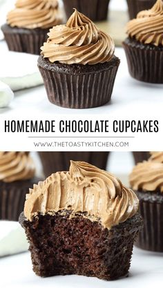 Homemade Chocolate Cupcakes by The Toasty Kitchen Homemade Chocolate Cupcakes by The Toasty Kitchen Heather The Toasty Kitchen toastykitchen The Toasty Kitchen Recipes Homemade Chocolate Cupcakes nbsp hellip made Cupcake recipes Easy Chocolate Cupcake Recipe, Homemade Cupcake Recipes, Best Chocolate Cupcakes, Frosting Recipes, Chocolate Flavors, Chocolate Desserts, Baking Recipes, Kitchen Recipes, Gourmet Cupcake Recipes