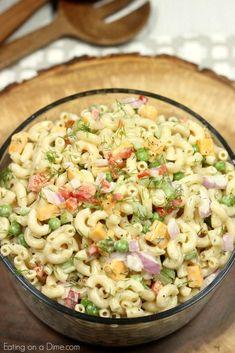 Easy macaroni salad recipe – The Best Macaroni Salad recipe - Macaroni Salad Southern Macaroni Salad, Easy Macaroni Salad, Elbow Macaroni Recipes, Macaroni Salad Ingredients, Pasta Salad Recipes, Cooking Recipes, Healthy Recipes, How To Cook Pasta, Soup And Salad