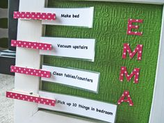 Crafty Chore Chart Ideas | hunt for some fun Chore Chart ideas for kids? Here are two great ideas ...