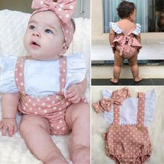 Stylish, comfortable and healthy which is made of cotton blend. The perfect baby shower gift / perfect gift for baby girls Suitable sizes are available from newborn to 24 months old babies. Package includes: 1 rompers + 1 headband Material Composition: Cotton Blend Ruffle Romper, Baby Girl Romper, Baby Girl Gifts, Baby Girl Newborn, Baby Girls, Baby Rompers, Polka Dot Print, Polka Dots, Body