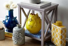Accents in Blue, Gray & Yellow. My bedroom. Decor, Luxury Furniture Design, Home N Decor, Family Living Rooms, Creative Home, Living Decor, Diy Home Decor, Blue Kitchen Accents, Home Decor