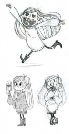 Character Designs de Gravity Falls, do Disney Channel | THECAB - The Concept Art Blog via PinCG.com