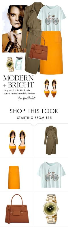 """""""New Look Trench coat"""" by lera-chyzh ❤ liked on Polyvore featuring Gianvito Rossi, Anita & Green, Nina Ricci, Tom Ford, Marc by Marc Jacobs, Terry de Gunzburg, women's clothing, women, female and woman"""