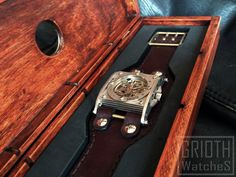 The INDUSTRIAL /Sapphire crystal, custom watch box/