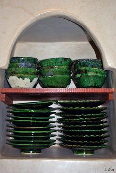 Poteries de Tamegrout dans la cuisine - © photo Riad Dar Zampa