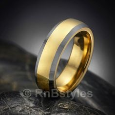 Unique RnB Tungsten Mens Ring Wedding Band 7mm | RnBJewellery
