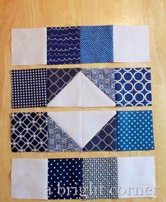 Quilt Block Tutorial–The Scrappy Susannah block tutorial 7 Colchas Quilting, Quilt Square Patterns, Patchwork Quilt Patterns, Beginner Quilt Patterns, Quilting For Beginners, Quilt Block Patterns, Quilting Tutorials, Pattern Blocks, Quilt Blocks