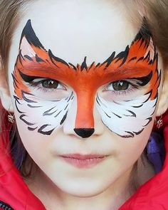 Extremely cool fox face painting