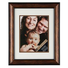 <div><div>Display your picture in style with this gorgeous, bronze-finish frame. The white mat h...