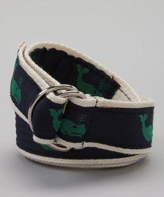 Loving this Navy & Green Whale Belt on #zulily! #zulilyfinds
