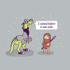 cool funny graphic design chicquero dinossaur