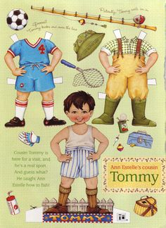 (⑅ ॣ•͈ᴗ•͈ ॣ)♡                                                             ✄Mary Engelbreit Paper Doll   Ann Estelle's Cousin Tommy by kimssewingbox.
