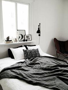 Bedroom styled by Charlotte Ryding for Alvhem.