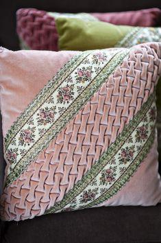 velvet ribbon pillows