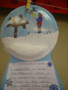 Cute snow globe writing activity