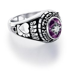 Custom personalized class ring from #Jostens Achiever Collection.