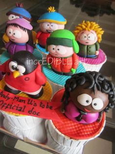 South park Characters Cupcakes - by Rumana Jaseel @ CakesDecor.com - cake decorating website