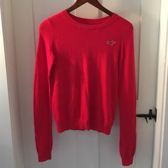 red Holister sweater xs Red Holister sweater, new with out tags, size xs Hollister Sweaters