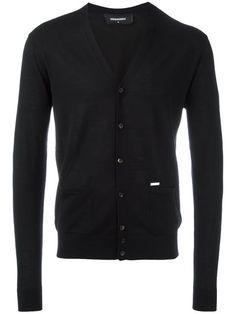 DSQUARED2 classic V-neck cardigan. #dsquared2 #cloth #cardigan