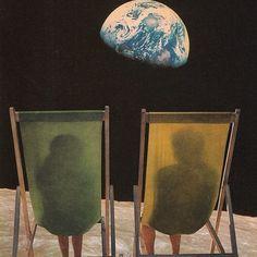 Holiday II #joewebb #collage #space #earth #moon