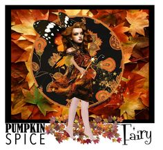 """Pumpkin Spice Fairy..."" by confusgrk ❤ liked on Polyvore featuring art"