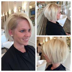 Yolanda Foster inspired look. Blonde. Cut. bob. messy look. kerastase