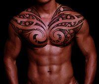 Maori inspired chest piece