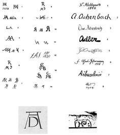 Australian Glass Artists Signatures