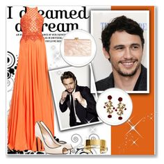 """""""Celebrity Crush: James Franco"""" by you-were-infinite ❤ liked on Polyvore featuring Zuhair Murad, Casadei, By Malene Birger, Edie Parker, Dolce&Gabbana, gown, Actor and crush"""