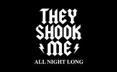 THEY SHOOK ME ALL NIGHT LONG (BABY) T-SHIRT, tshirthell.com