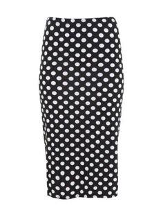 Black and White Polka Dot Midi Skirt   16.91 @ newlook.com