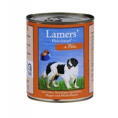 Aus der Kategorie Nassfutter  gibt es, zum Preis von EUR 1,43  Alleinfuttermittel für Hunde Zusammensetzung: Fleisch und tierische Nebenerzeugnisse, ( 35 % Pute, 6 % Herz, 6 % Innereien, 4 % Muskelfleisch )<br /><br />Mineralstoffe Analytische Bestandteile: <br />Protein 10,1%, Fettgehalt 5,6 %, Rohfaser 0,90 %, Rohasche 2,1 %, Feuchte 80 % <br /><br />Ernährungsphysiologische Zusatzstoffe je kg: <br />Vitamin A 2000 I.E., Vitamin D3 200 I.E., Vitamin E 25 mg, Zink 0,8 mg, Mangan 0,3 mg, Jod…