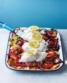 Fresh, healthy and full of flavour – this one-pan roast fish recipe is so easy to make.