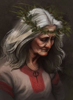 At the spring festival in Fadras Cinneda Merowik remembers and mourn her beloved Belleron that died during the Daemoni wars.