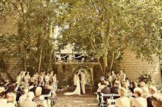 Outdoor wedding spot...bluedress barn
