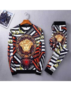 Versace Tracksuits For Men Versace Suits, Versace Jacket, Versace T Shirt, Versace Fashion, Versace Men, Designer Suits For Men, Designer Clothes For Men, Gucci Mens Sneakers, Loafers Men
