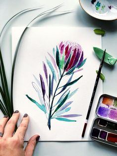 BLACK TULIP Professional brush set for watercolor gouache and liquid acrylic paints 🌿⁣ ARTIST Natalia Nazarian. Watercolor Art Diy, Watercolor Brushes, Watercolor Flowers, Watercolor Paintings, Paint Brushes, Simple Watercolor, Watercolor Sketch, Watercolor Portraits, Watercolor Landscape