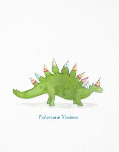 Partysaurus card by E. Frances Paper on Postable.com