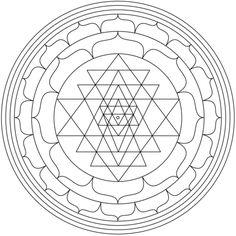 Шри-янтра мандала Раскраска