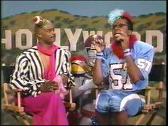 Invited to the Superbowl Halftime Party for the Living Color episode that aired on Fox during halftime for Super Bowl XXVI (1992). At the very end of this video you can see a shot of the party.