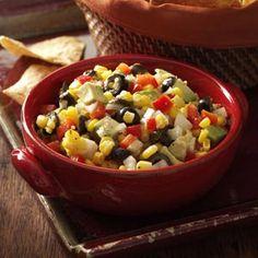 Avacado Salsa ~ Great for your Cinco de Mayo party ~ People love the garlic, corn and avocado combination!